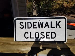 Sidewalk Closed Signs for Sale in Chapel Hill, NC