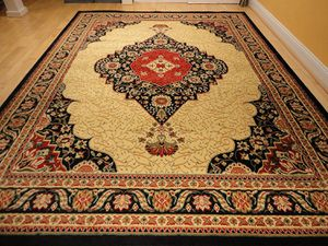 Traditional Persian area rug black 5x8 8x11 for Sale in Baltimore, MD