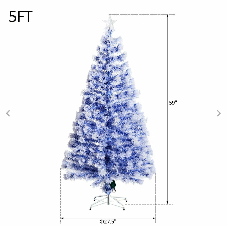 Pre-lit Fiber Optic 5' Trèè Artificial Christmas Trèè Multicolor LED Star Lights
