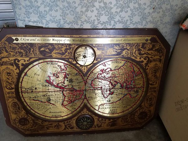 A New And Accurate Map Of The World 1628.Masketeers Old World Brass Map For Sale In Indianapolis In Offerup