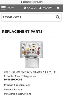 GE Energy Star 25.8 Cu. Ft. French-door Refrigerator  Thumbnail