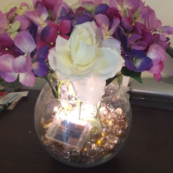 Light Up Hydrangea Flowers With Vase