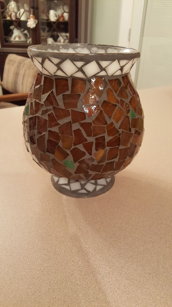 Glass Mosaic Vase 7 Tall And 6 Wide For Sale In Murfreesboro Tn