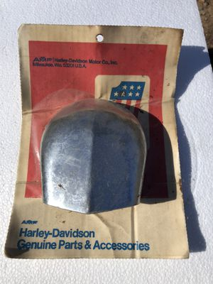 Photo NOS Vintage Harley Davidson chrome horn cover new in the package $25
