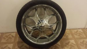 "24"" chrome rims w/tires for Sale in Pittsburgh, PA"