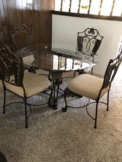 Glass Kitchen Table and Chairs Thumbnail