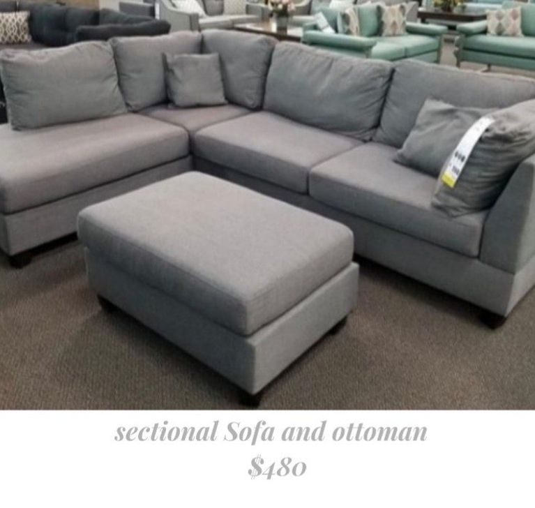 Reversible Sectional Sofa and Ottoman [ New In Box]