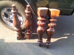 Good hard wood table legs for your custom table for Sale in Sherwood, OR