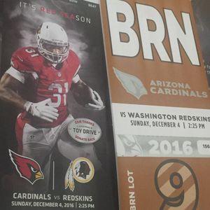 Cardinals vs Redskins 12/4/16 for Sale in Washington, DC