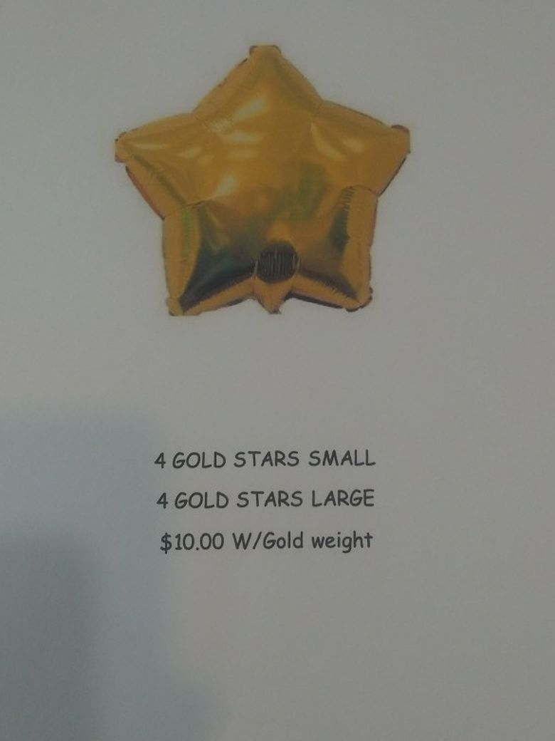 Gold Star Balloon