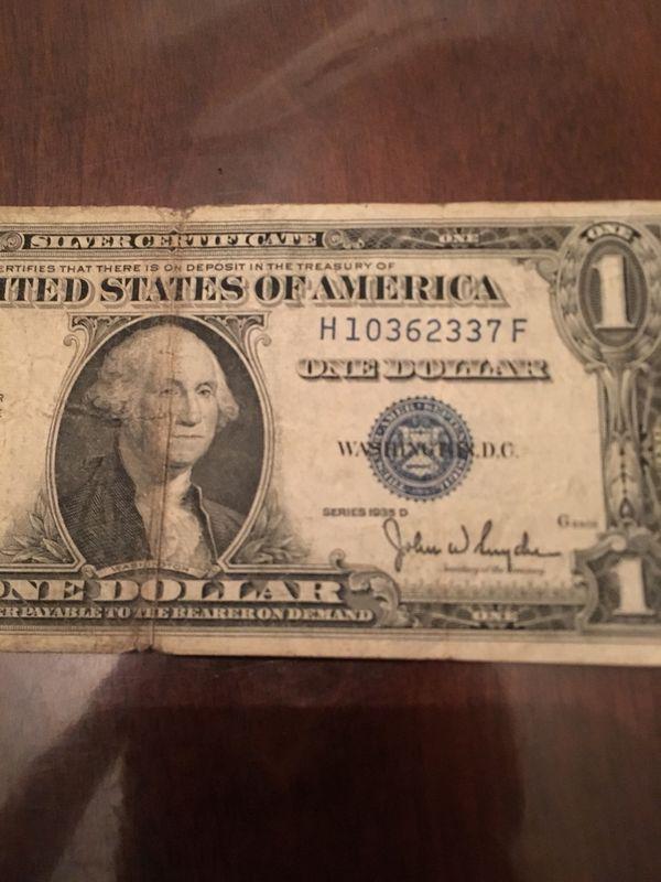1935 Silver Certificate For Sale In Dearborn Mi Offerup