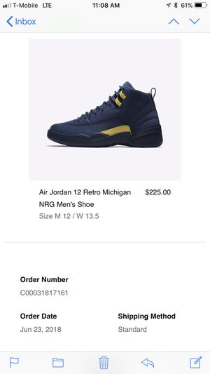 f0947613cab Nike Air Jordan Retro Michigan 12s *Size 12* for Sale in Franklin, TN -  OfferUp