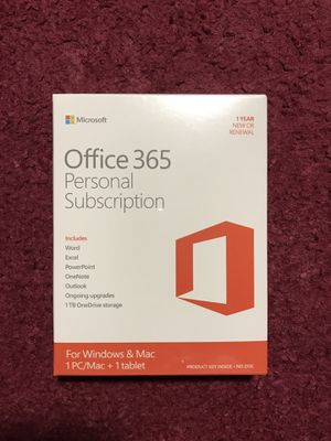 Microsoft Office 365 Personal Subscription for Sale in Denver, CO