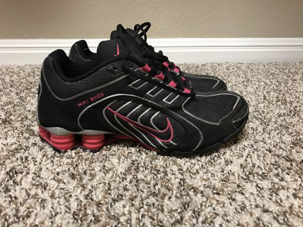b1b7ef9058b886 ... wholesale nike shox womens size 7.5 pink black silver sparkle navina  for sale in san antonio