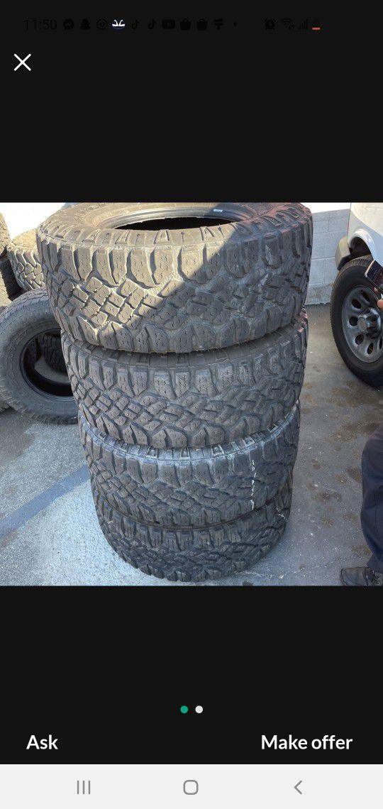 35x12.50r18LT Goodyear Tires En Exelentes Condiciones De Vida Las 4