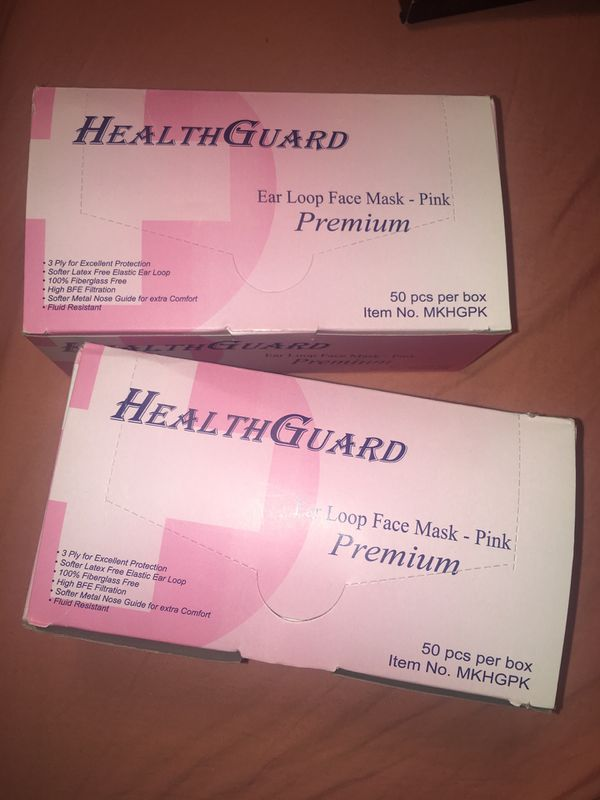 In Sale Per Lynwood -ear - Health Offerup 50 For Ca Pc Box Mask -pink Guard Face Loop