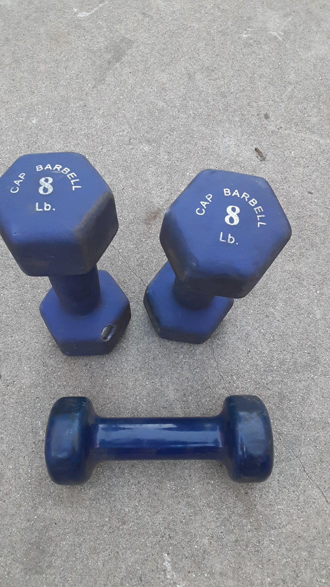 Weights 2 8lb dumbells single 5lb