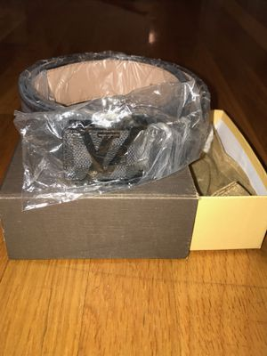 81a511cdf370 Brand new black and gray Louis Vuitton belt for Sale in Brockton