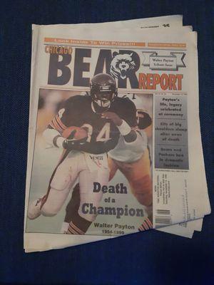 Photo Chicago Bear report November 13th 1999 Walter Payton