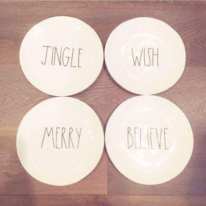 "Christmas LL Rae Dunn Plates 11"" for Sale in Alexandria, VA"