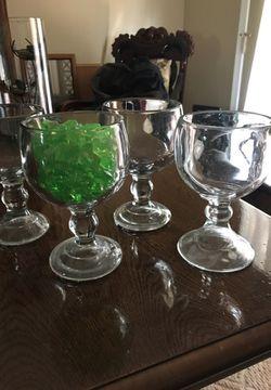 Set of 4 super thick margarita glasses $15 all Thumbnail