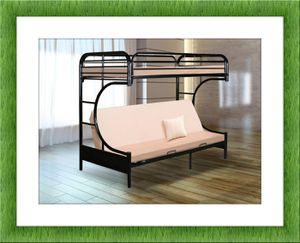 Twin futon bunkbed frame free delivery for Sale in Glenarden, MD