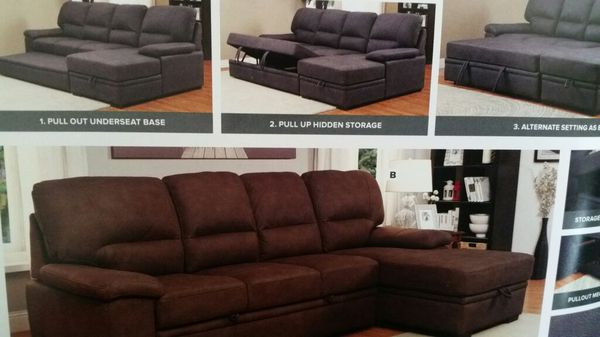 New Convertible Sectional Sofa / Bed for Sale in Denver, CO - OfferUp