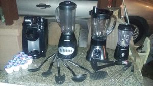 Blenders, coffee maker, bullet, and kitchen utensils for Sale in Phoenix, AZ