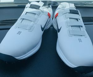 Photo Nike Golf Tiger Woods 71 FastFit Mens Shoe CD6300-100 Size 8 white steal deal