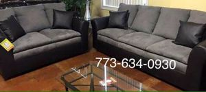 Grey and black sofa and Loveseat couches!!Brand new free delivery for Sale in Chicago, IL