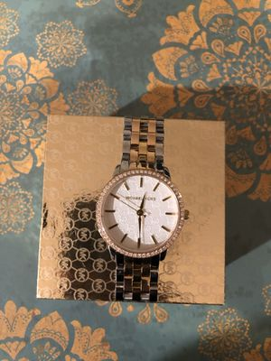 Photo Silver and Gold White Michael Kors Women's Watch