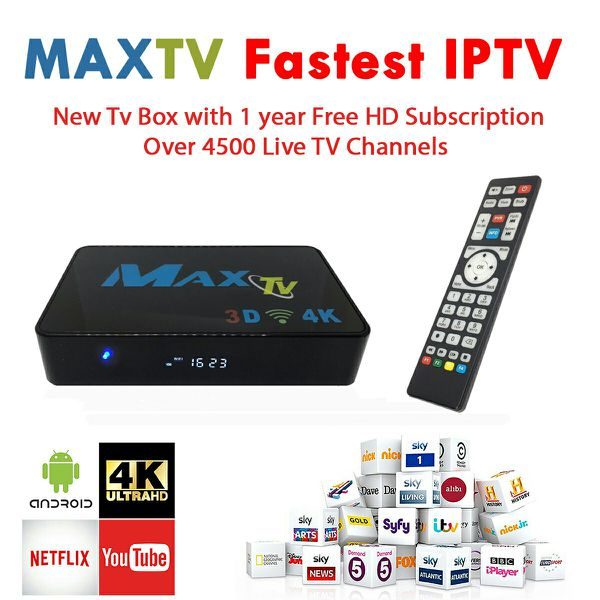 IPTV BOX 4K +1 YEAR SUBSCRIPTION 4500 + CHANNELS for Sale in Miami, FL -  OfferUp