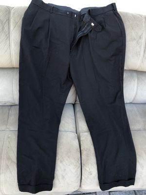 Men's Big and Tall Black Dress Pants Size 48x34 for Sale in Orlando, FL