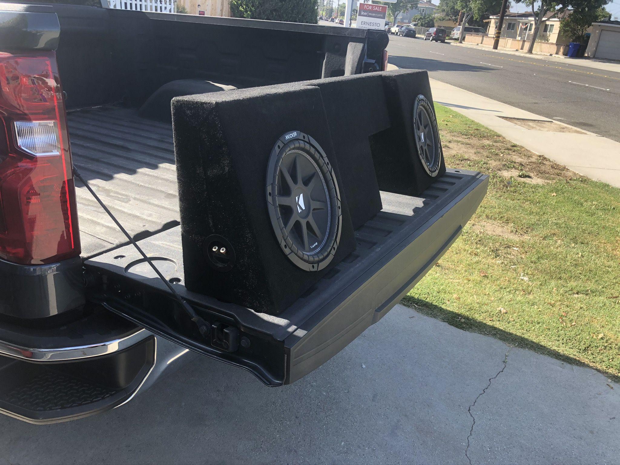 Cajón Y bocinas De 300 Watts  para Chevy Silverado 2014 Cabina Sencilla