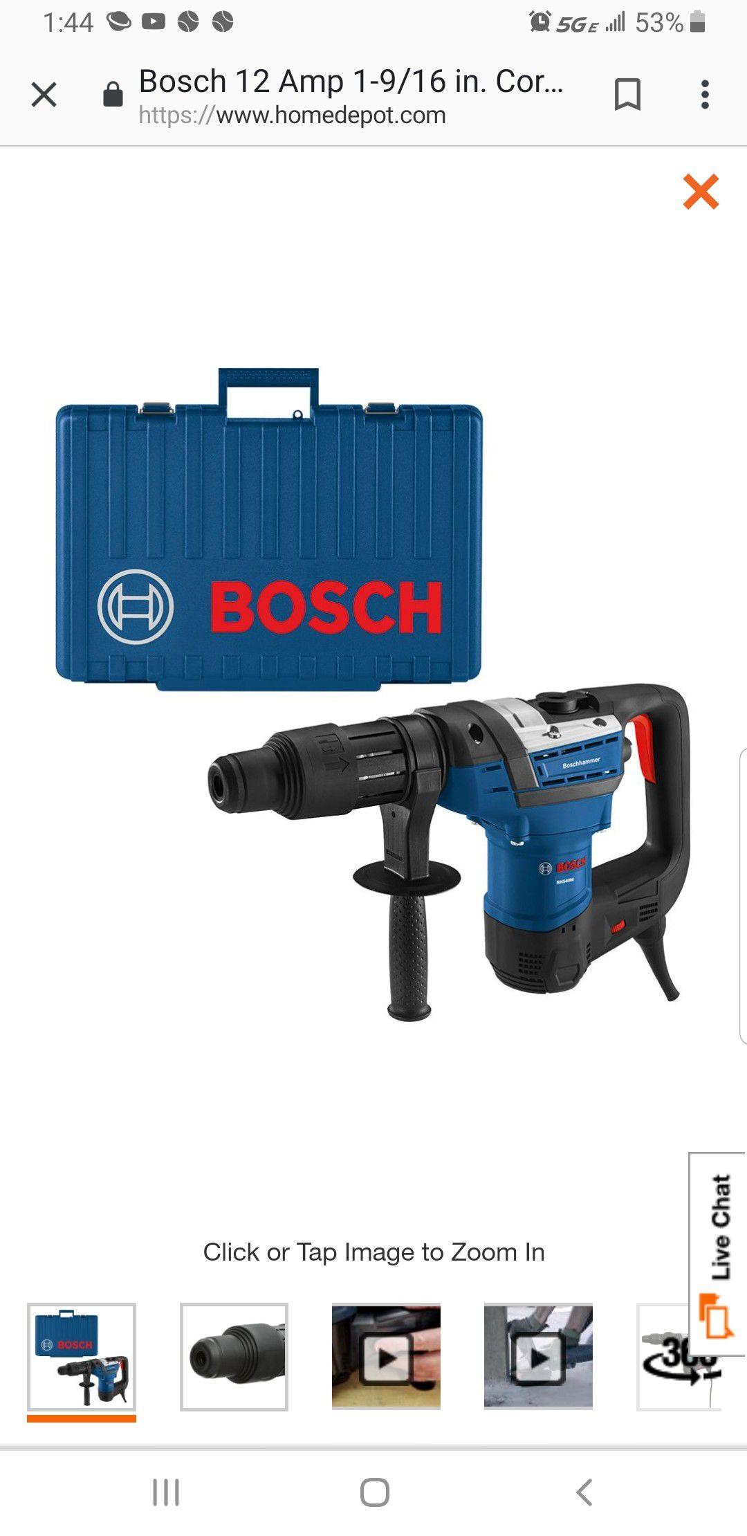 Heavy duty Bosch hammer drill