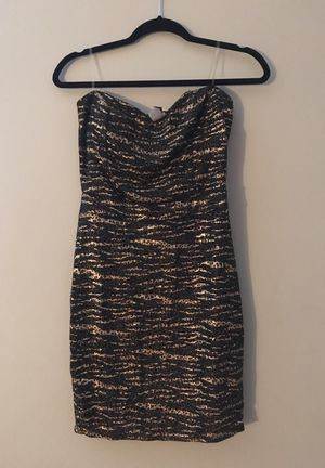 Black & Gold Leopard print dress - L for Sale in Pittsburgh, PA