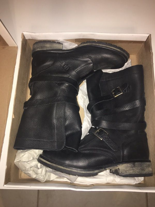 58bb671094b Steve Madden Banddit Black Leather Boots size 7.5 for Sale in West ...
