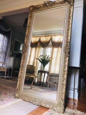"36""X68"" Huge Gorgeous Golden Antique wood Mirror for Sale in Gainesville, VA"