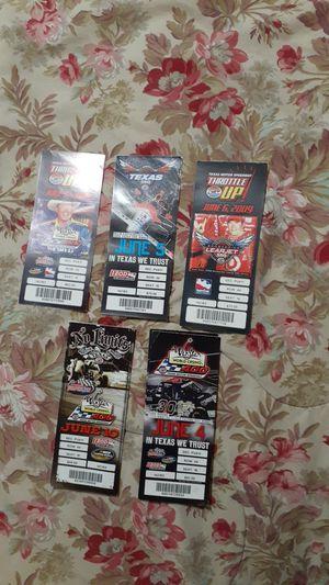 Photo Texas Motor Speedway ticket stubs