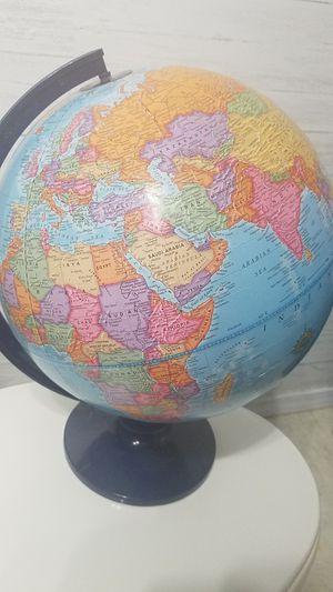 World Globe, plastic, sturdy stand for Sale in Mountlake Terrace, WA