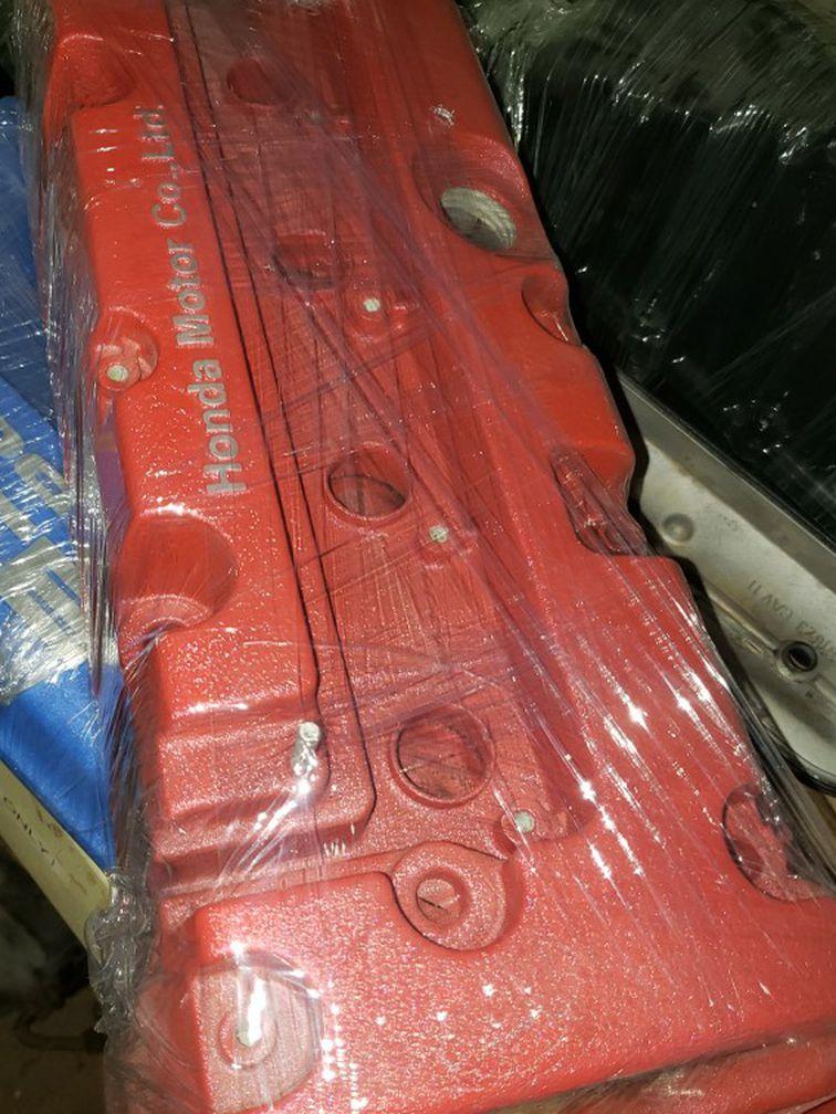 K20 K24 Honda Acura Valve Cover Wrinkle Red