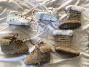 Infant Size 3 Timberland Crib Booties, Reebok Sneakers and Baby Gap Boots - $15 Each for Timberland and Reebok and $10 for Gap for Sale in Raleigh, NC