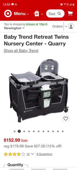Baby Trend Retreat Twins Nursery Center - Quarry Thumbnail