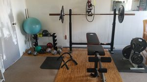 Garage weights dumbell barbell for Sale in Dallas, TX