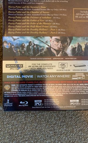 Harry Potter 8 movie 4 4K collection + digital code for Sale in Seattle, WA  - OfferUp