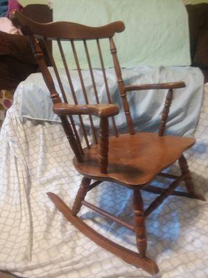 Vintage Wooden Rocking Chair for Kids for Sale in Arlington, VA