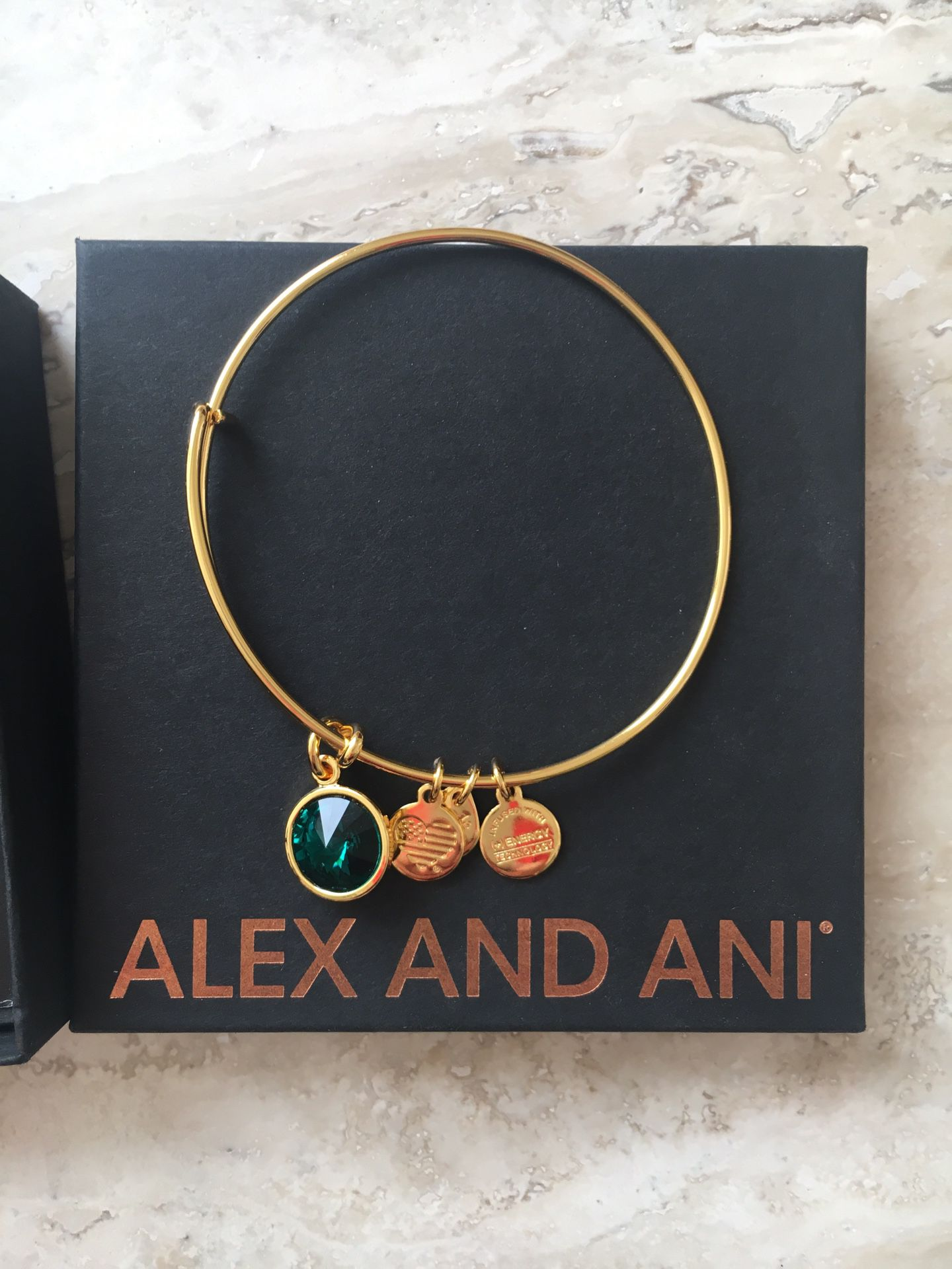 Alex and Ani birthstone bracelet, in original box and bag with bag