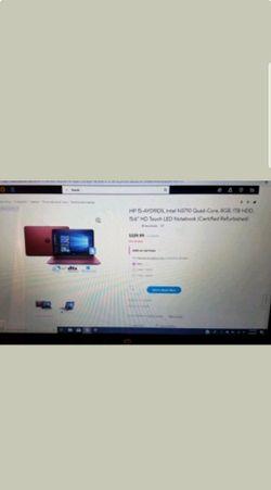 HP touch screen laptop white 17inch Thumbnail