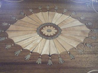 Antique inlaid serving tray - $300 Thumbnail