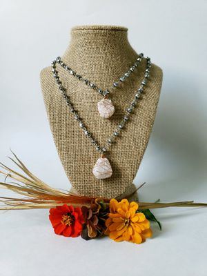 Clear Crystal Druzy Necklace for Sale in Centreville, VA